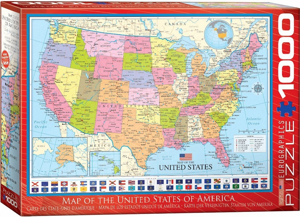Puzzle Map of the United States