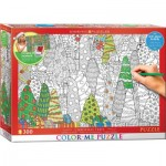 Puzzle   XXL Color Me - Christmas Trees