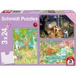 3 Puzzles - Waldtiere