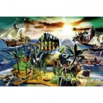 Puzzle  Schmidt-Spiele-56020 Playmobil: Pirateninsel