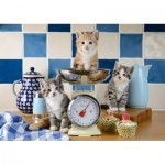 Puzzle  Schmidt-Spiele-58370 Cats in the Kitchen