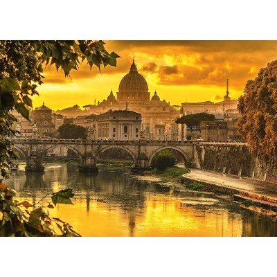 Puzzle Schmidt-Spiele-58393 Golden Light over Rome
