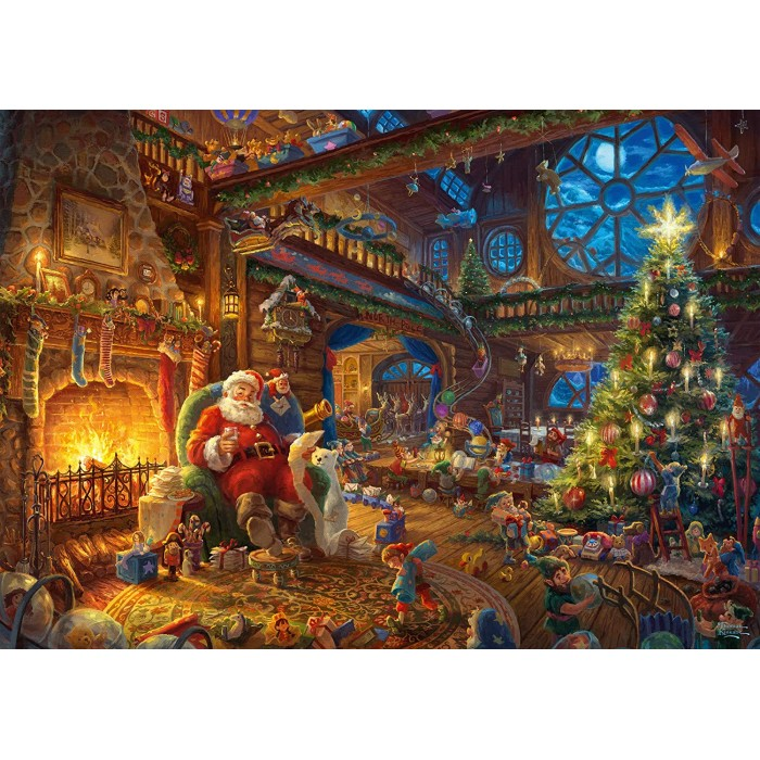 Thomas Kinkade - Santa Claus and His Secret Helper