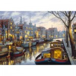Puzzle  Schmidt-Spiele-59561 Evgeny Lushpin - Am Kanal