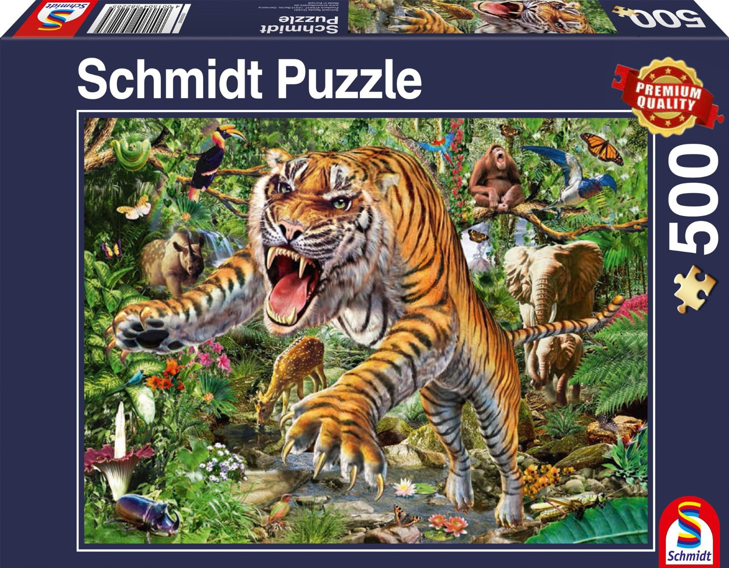 tiger angriff 500 teile schmidt spiele puzzle online kaufen. Black Bedroom Furniture Sets. Home Design Ideas