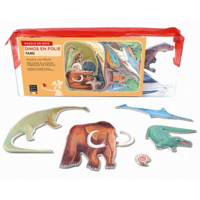 Puzzle-Michele-Wilson-W146-24 Holzpuzzle - Dinosaurier