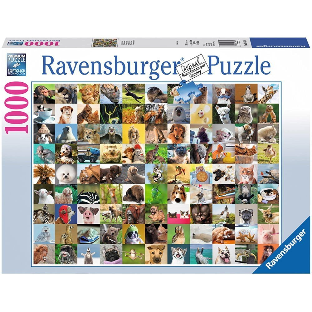 99 lustige tiere 1000 teile ravensburger puzzle online kaufen. Black Bedroom Furniture Sets. Home Design Ideas
