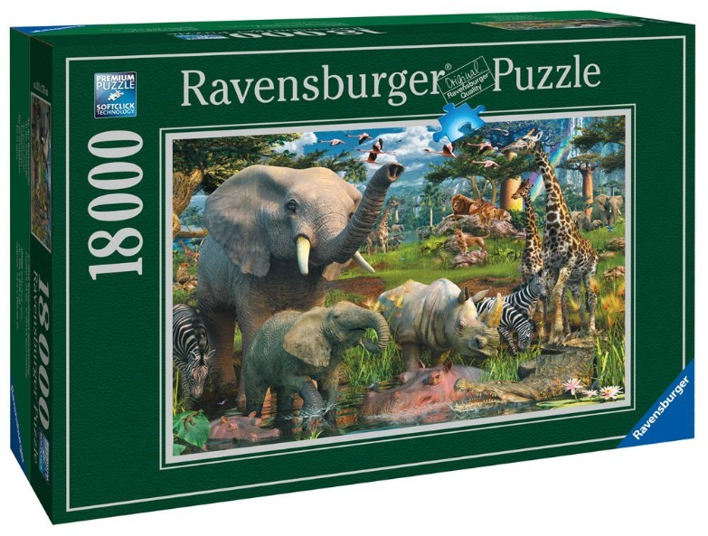 an der wasserstelle david penfound 18240 teile puzzle ravensburger puzzle online kaufen. Black Bedroom Furniture Sets. Home Design Ideas
