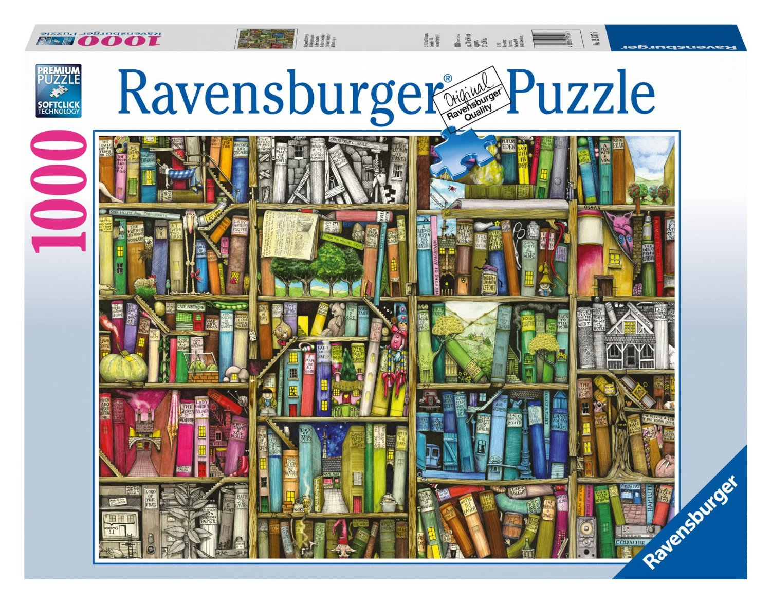 magisches b cherregal 1000 teile querformat puzzle ravensburger puzzle online kaufen. Black Bedroom Furniture Sets. Home Design Ideas