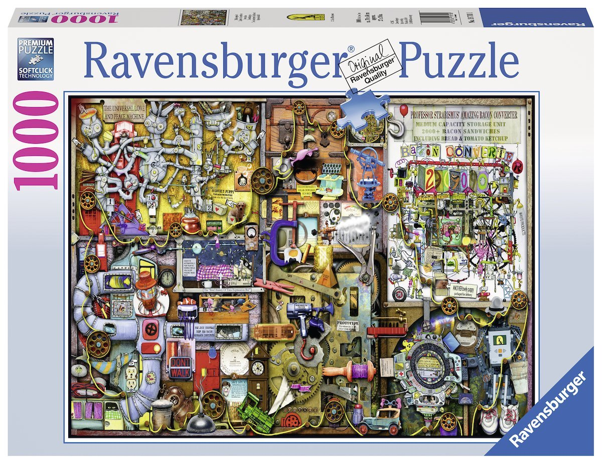colin thompson erfindergeist 1000 teile ravensburger puzzle online kaufen. Black Bedroom Furniture Sets. Home Design Ideas