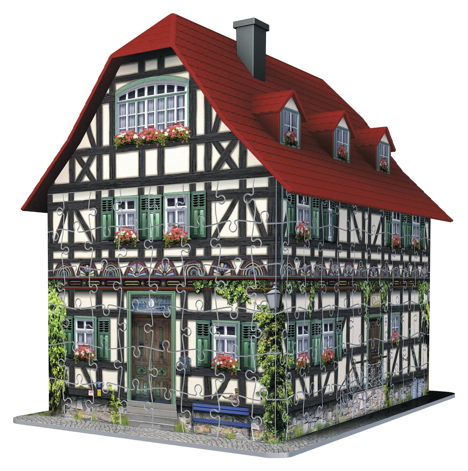 fachwerkhaus 216 teile 3d puzzle ravensburger puzzle online kaufen. Black Bedroom Furniture Sets. Home Design Ideas