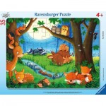 Frame Puzzle - Little Animals Go to Bed