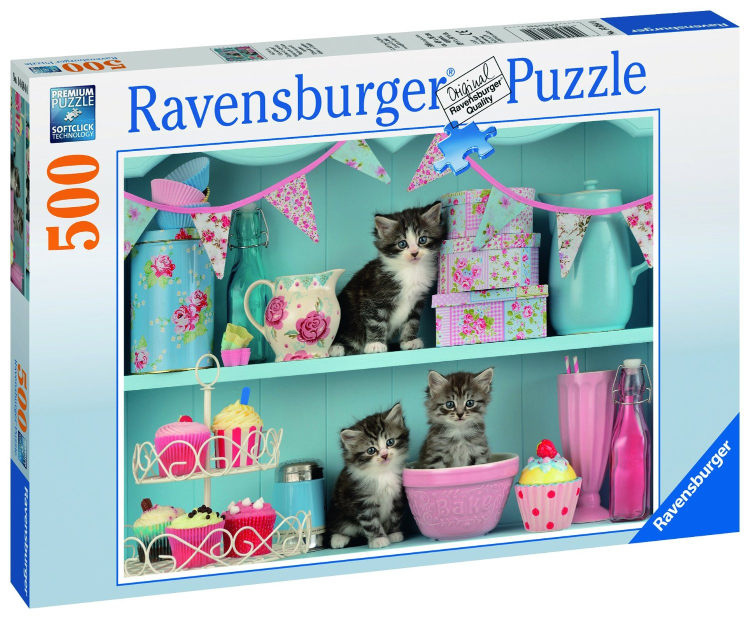 katzen im cupcakeregal 500 teile ravensburger puzzle. Black Bedroom Furniture Sets. Home Design Ideas