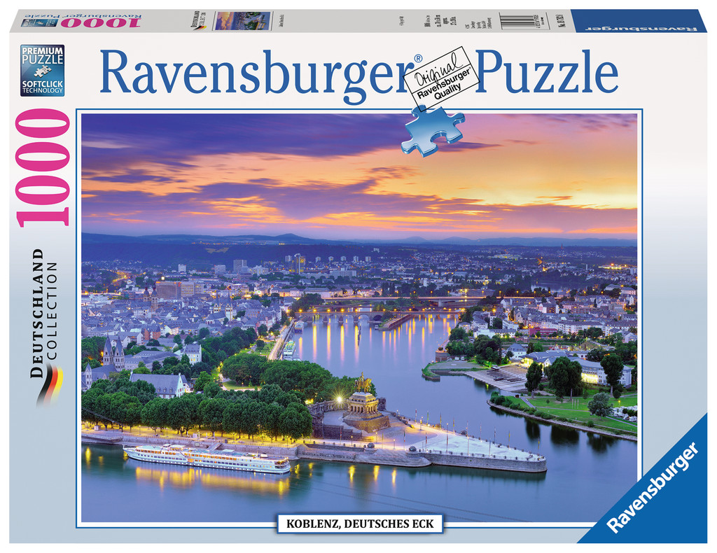 koblenz deutsches eck 1000 teile ravensburger puzzle online kaufen. Black Bedroom Furniture Sets. Home Design Ideas