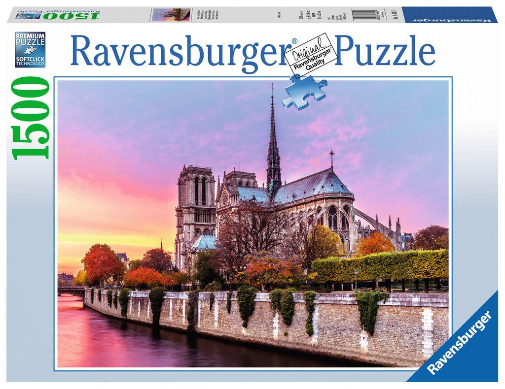 notre dame paris 1500 teile ravensburger puzzle online kaufen. Black Bedroom Furniture Sets. Home Design Ideas