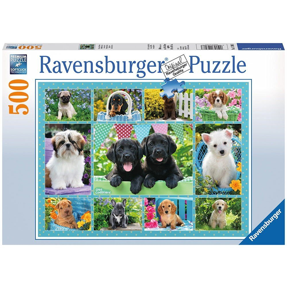 putzige h ndchen 500 teile ravensburger puzzle online kaufen. Black Bedroom Furniture Sets. Home Design Ideas