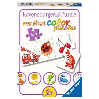 Ravensburger-03007 6 Puzzles - My First Color Puzzles