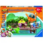 Ravensburger-05053 2 Puzzles - Top Wing