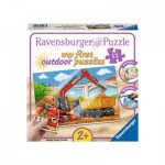 Ravensburger-05073 My First outdoor Puzzles - Meine Baustelle