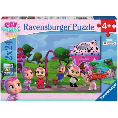 Ravensburger-05103 2 Puzzles - Cry Babies