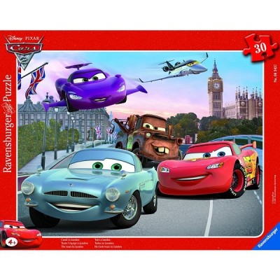 Ravensburger-06343 30 Teile Rahmenpuzzle - Cars 2: Das Team in London