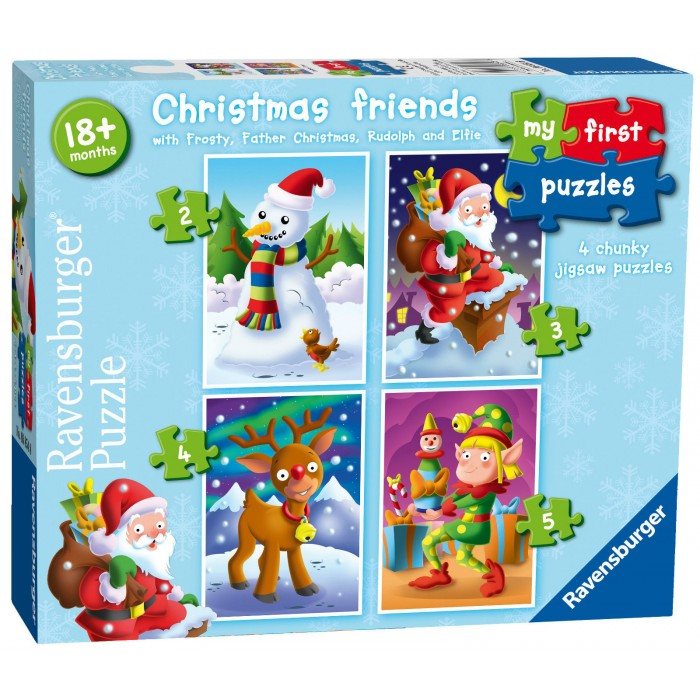 4 Puzzles - My First Puzzles - Christmas Friends