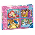 Ravensburger-06857 4 Puzzles - Disney Princess