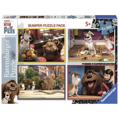 Ravensburger-06860 4 Puzzles - The Secret Life of Pets