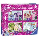 Ravensburger-06896 4 Puzzles - My Little Pony