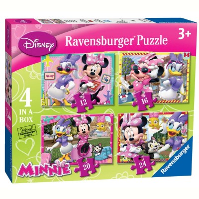 Ravensburger-07127 4 Puzzles - Minnie Mouse