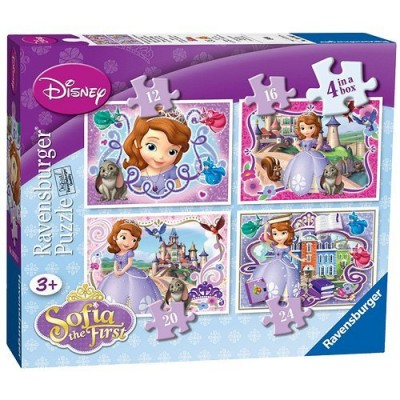 Ravensburger-07328 4 Puzzles - Sofia the First