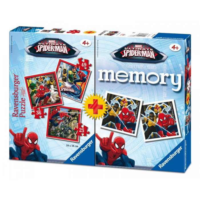 3 Puzzles Spiderman + Memory