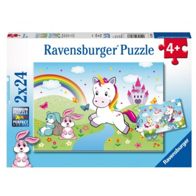 2 puzzles einhorn 24 teile ravensburger puzzle online kaufen. Black Bedroom Furniture Sets. Home Design Ideas