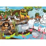 Puzzle  Ravensburger-08778 Tag im Zoo