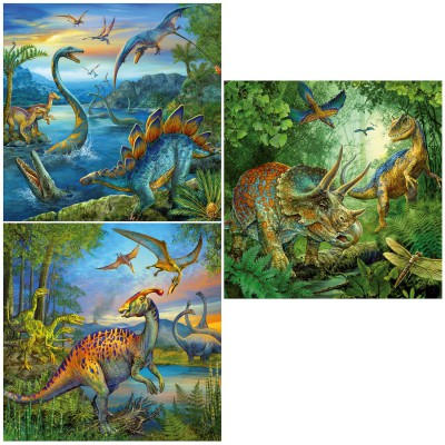 Puzzle Ravensburger-09317 Faszination Dinosaurier