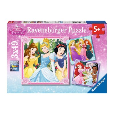 Ravensburger-09402 3 Puzzles - Disney Princess
