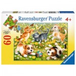 Puzzle  Ravensburger-09624 Cats & Dogs
