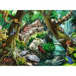 Puzzle  Ravensburger-10703 XXL Teile - Creepy Crawlies back