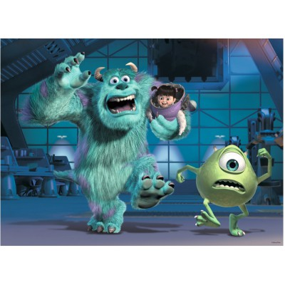 Puzzle Ravensburger-10941 XXL Teile - Disney Pixar Collection: Sully, Mike & Boo