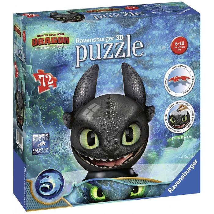 3D Puzzle - DreamWorks - Dragon