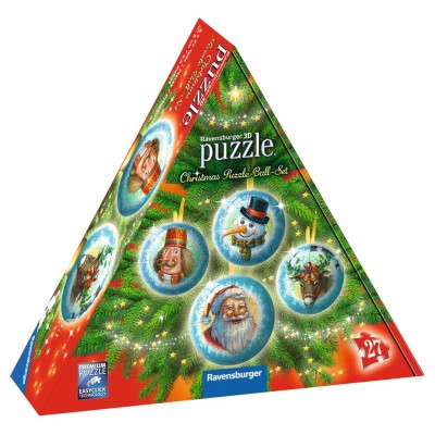 Ravensburger-11678 3D Puzzle - Christmas Puzzle-Ball-Set