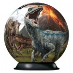 Ravensburger-11757 3D Puzzle-Ball - Jurassic World