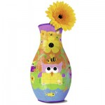 Ravensburger-12050 3D Puzzle - Blumenvase - Girly Girl: Eule