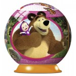 Ravensburger-12178 3D Puzzle - Masha and the Bear