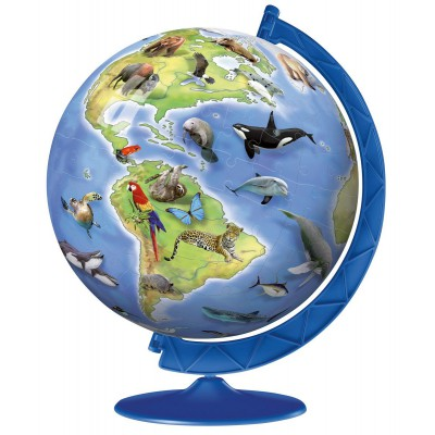 Ravensburger-12332 Puzzleball 3D - World's Endangered Species