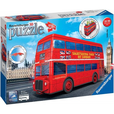 Ravensburger-12534 3D Puzzle - London Bus