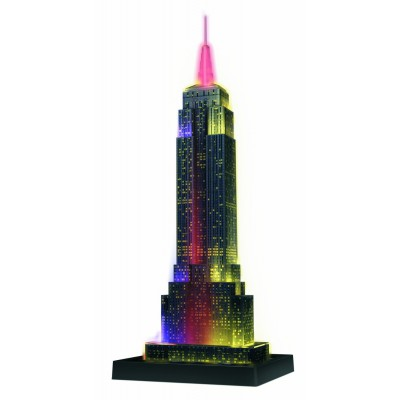 Puzzle Ravensburger-12566 Empire State Building bei Nacht