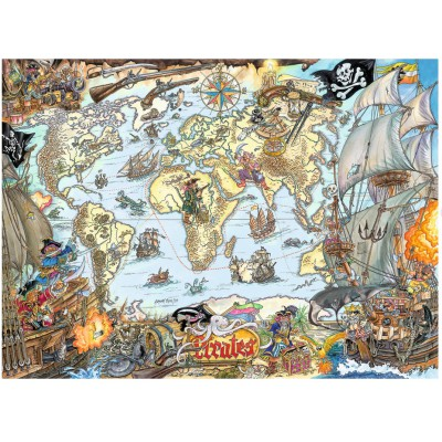 Puzzle Ravensburger-12802 Piratenkarte