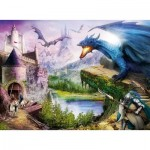 Puzzle  Ravensburger-12911 XXL Teile - Castle and Dragon