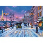 Puzzle  Ravensburger-14741 Dominic Davison: Winter in Paris